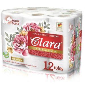 Papel higiénico marca Clara 12 rollos