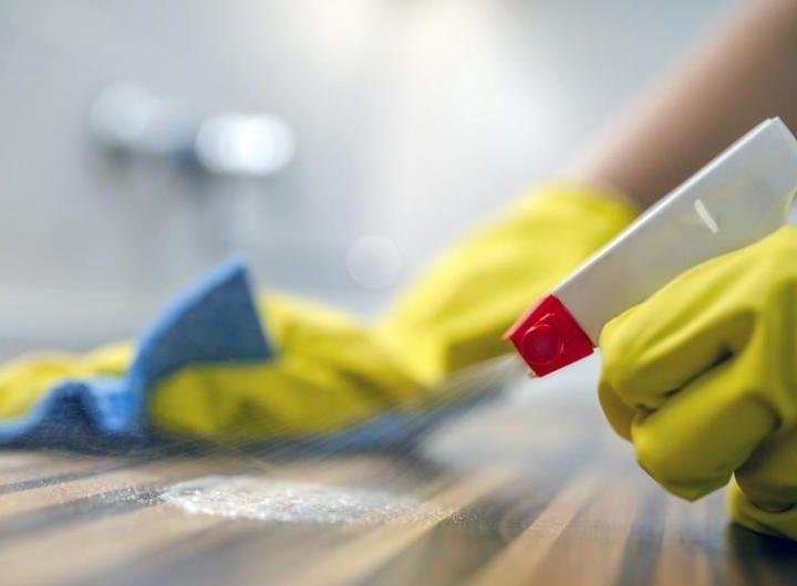 Limpio y desinfectado